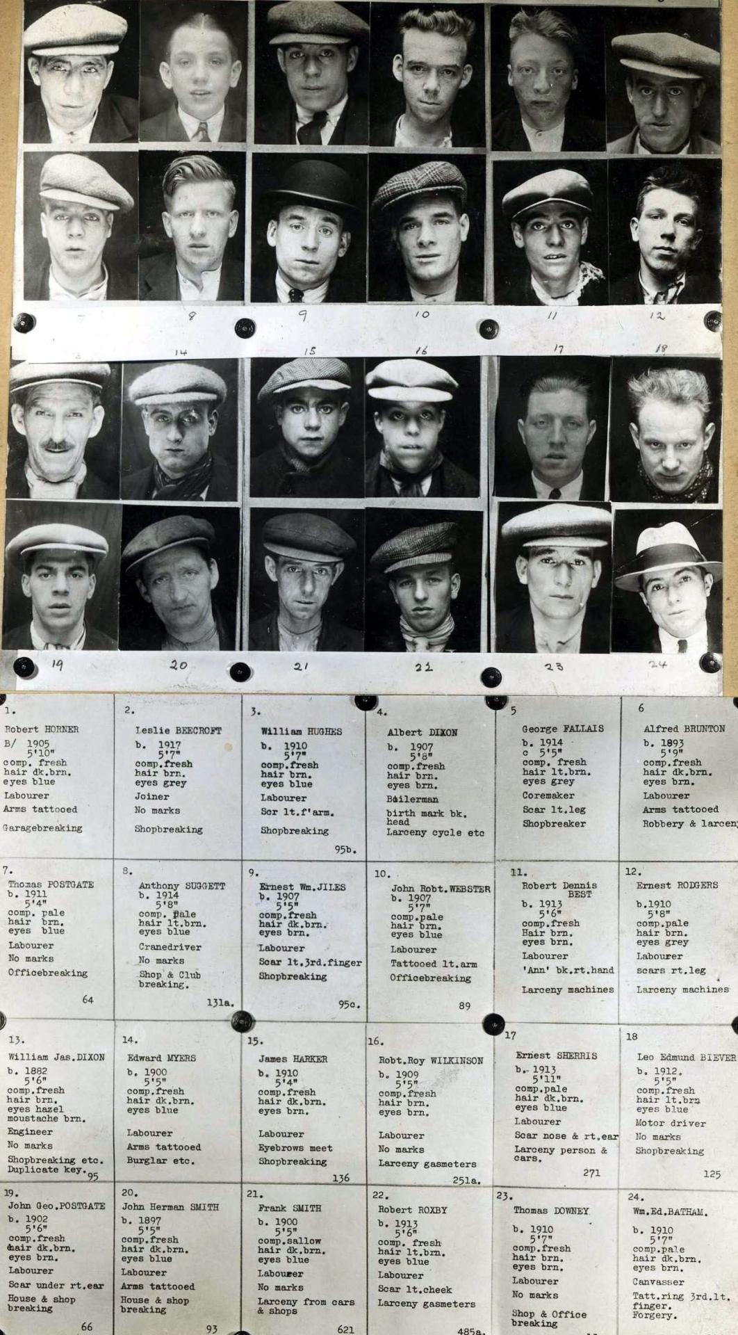 1930's Mug Shot Book