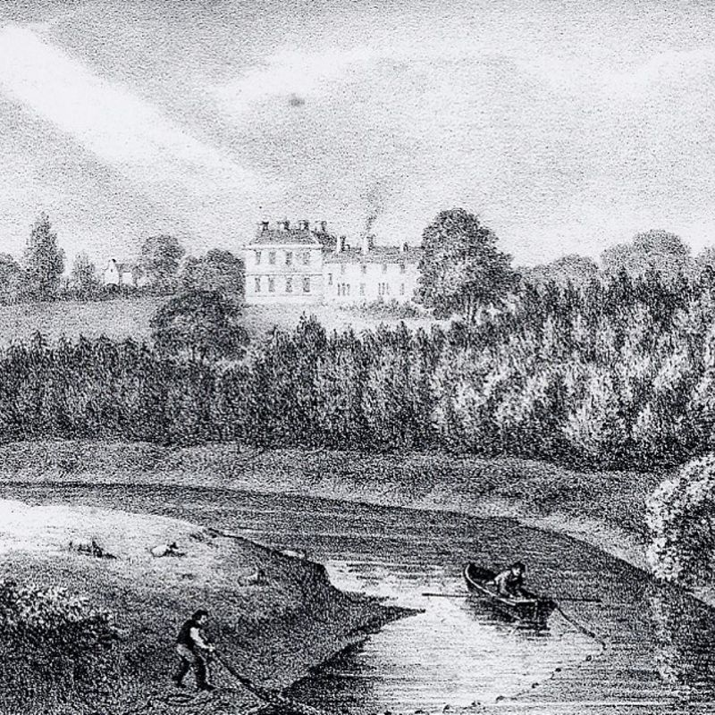 An Image Showing What Preston Hall Would Have Looked Like In 1825