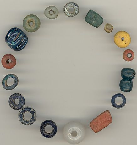 glass annular beads