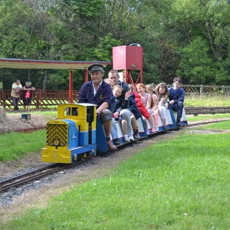 Families Riding The Small Gauge Railway
