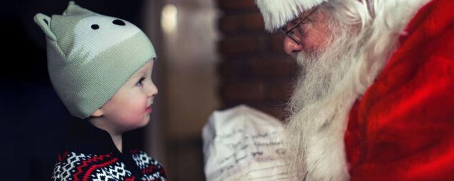 Little Boy Meeting Father Christmas