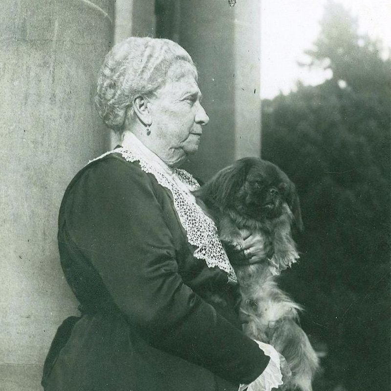 Mrs Ropner Holding Her Dog