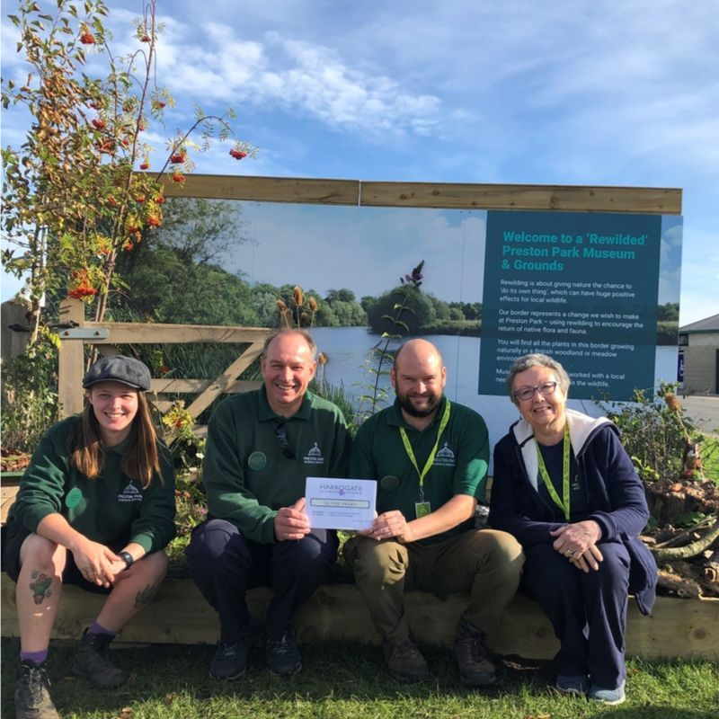 Park Rangers And Volunteers With Their Silver Award For The Border At The Harrogate Flower Show 2019