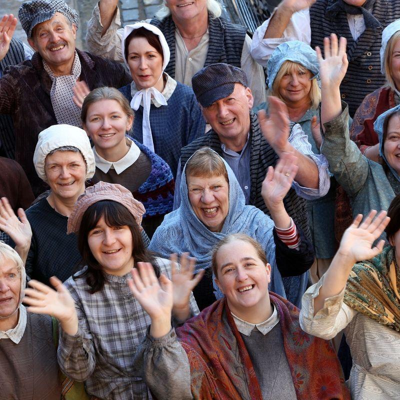 Volunteers In Victorian Costume