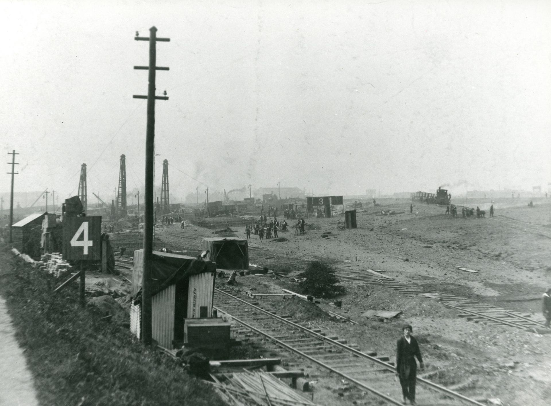 Black and white photograph of Furness shipyards