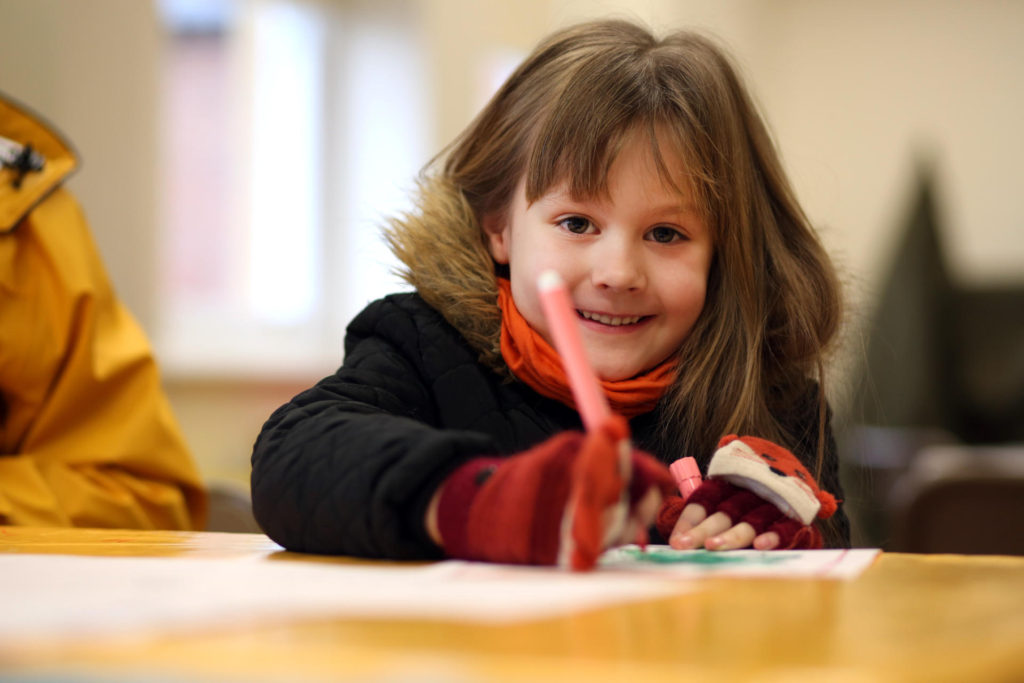 Child Enjoying Craft Activities At Preston Park