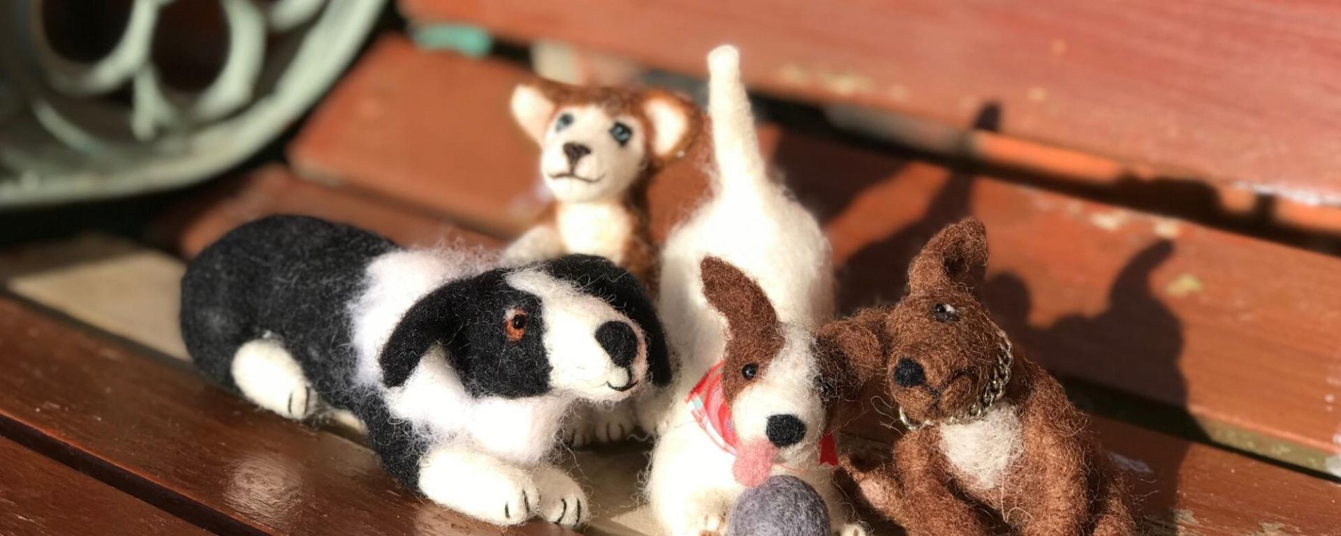 Needle Felted Cats And Dogs