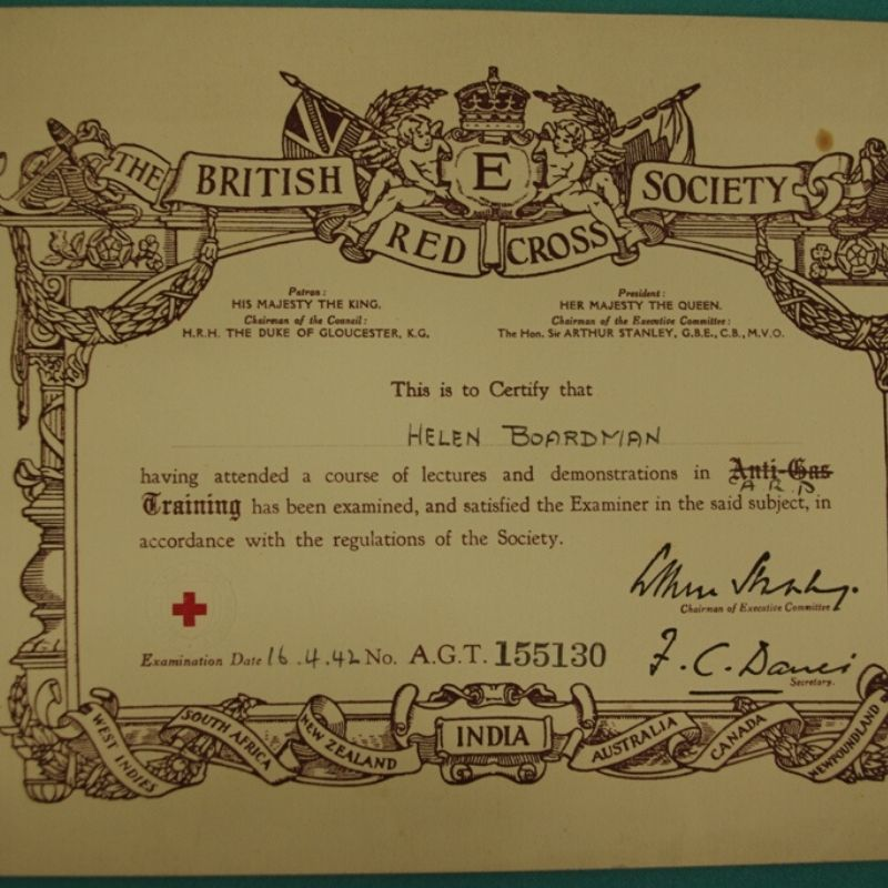 Air Raid Precaution Certificate