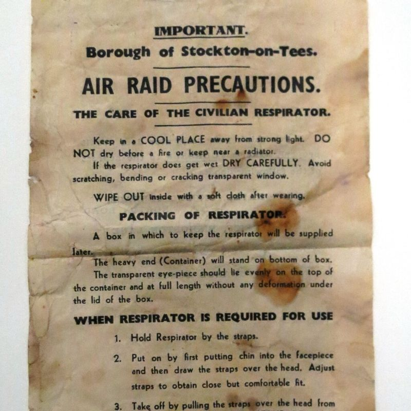Air Raid Precaution Letter