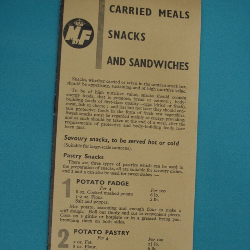 Carried Meals And Snacks Leaflet