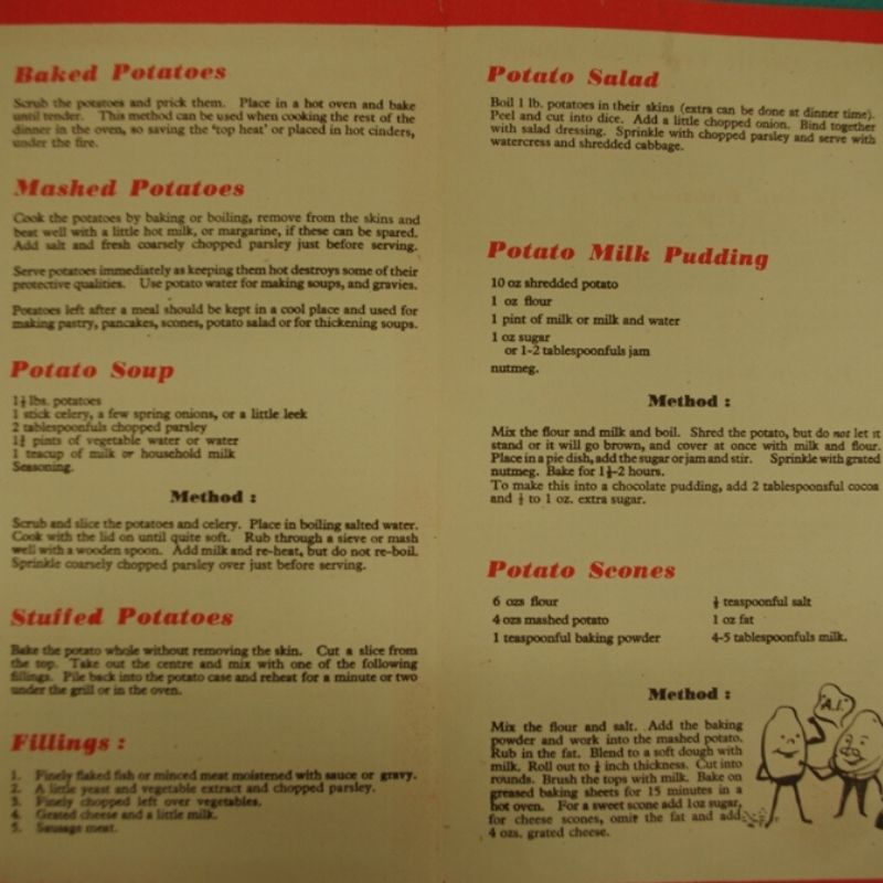 War Cookery Leaflet