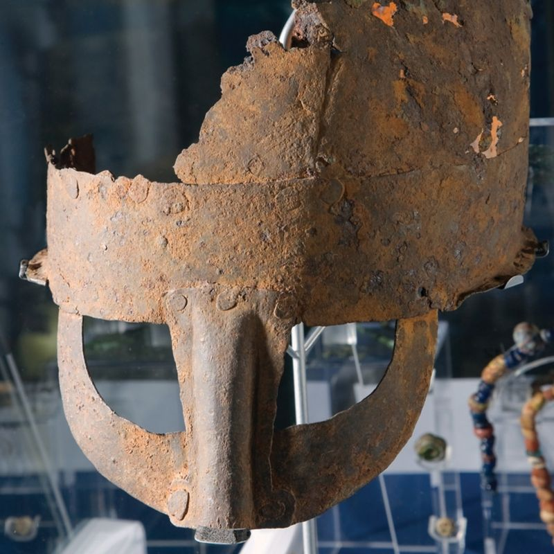 Viking Helmet On Display In The River Tees Gallery
